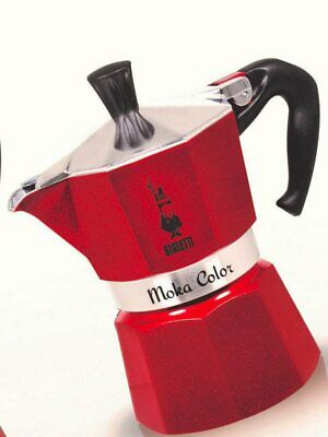 Cafetière espresso Bialetti Moka 3 tasses, couleur rouge 0009322 Red Emotion