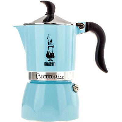 """BIALETTI Machine à café / expresso """"Fiammetta"""" 3 tz, couleur FLUO BLEU CLAIR"""