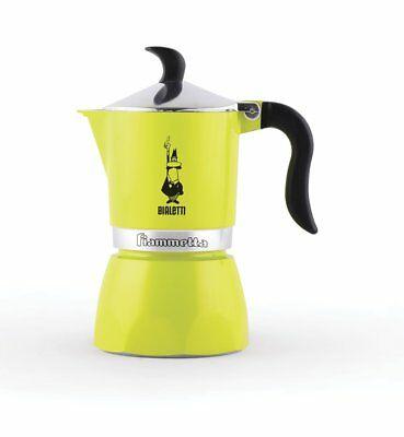 Bialetti 0004791 Moka Fiammetta, Cafetière à espresso, aluminium, citron vert fluo JyTl