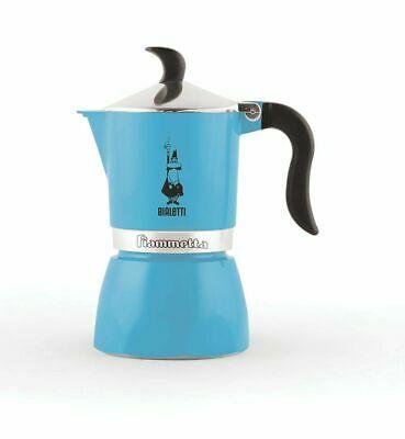 Cafetière en aluminium Biametti Moka Exspress Fiammetta 1 tasse bleue