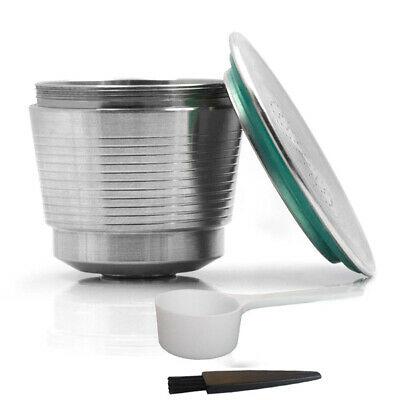 Machines compatibles de Nespresso de capsules de café d'acier inoxydable rechargeable de capsules