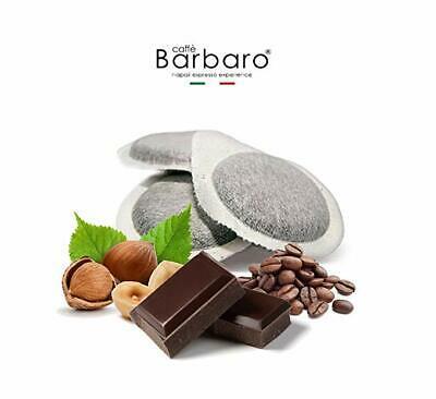20 dosettes ESE 44 café au chocolat et aux noisettes Barbaro COFFEINA
