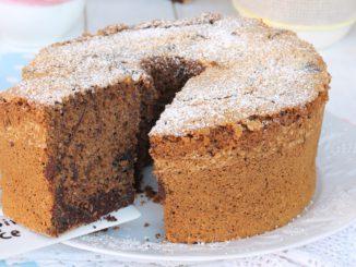 CHIFFON CAKE BICOLORE coco caffe cacao   recette de beignets panachés