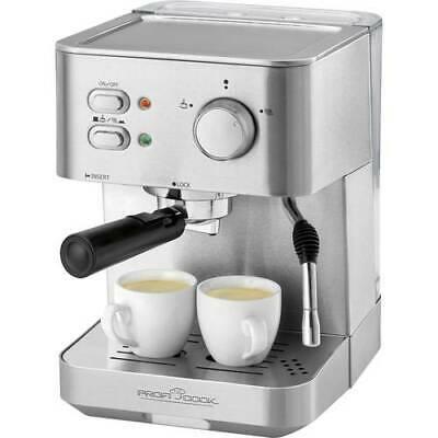 Machine à café expresso profi cook pc es 1109 acier noir 1050 w avec