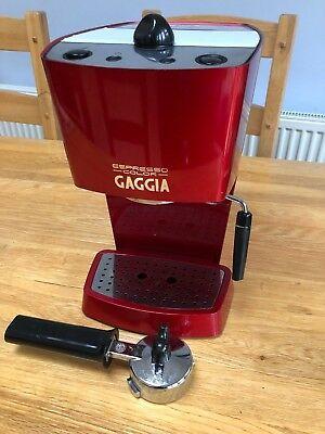 Gaggia 74841 Cafetière à expresso, rouge profond
