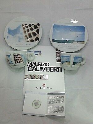 1 Set de café ILLY 2 tasses à espresso + 2 soucoupes MAURIZIO GALIMBERTI cod. 22106