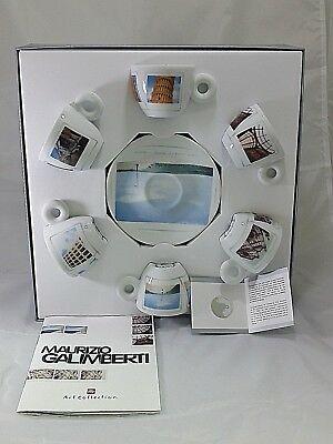 1 Set de café ILLY 6 tasses à espresso + 6 soucoupes MAURIZIO GALIMBERTI cod. 22105