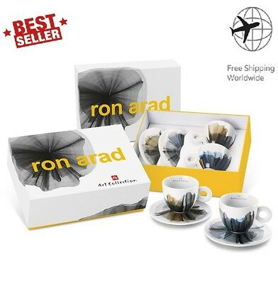 Illy Art Collection 2017 Ensemble de 2 tasses à café en cappuccino signé Ron Arad - 177 ml