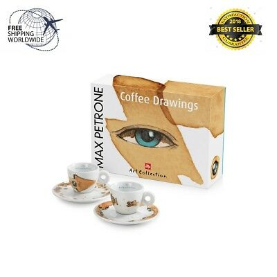 Illy Art Collection Set de tasses à café expresso Max Petrone 2 2018 signé - 60 ml