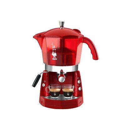 Bialetti Mokona Machine à café transparente rouge 20 bars trivalent CF40 Rotex