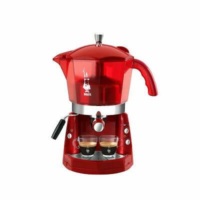 Machine à café 20 bars trivalent Bialetti Mokona Rouge transparent CF40 mshop