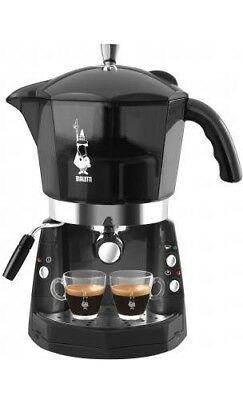 Machine à café expresso manuelle Mokona Bialetti, dosettes transparentes noires CF40