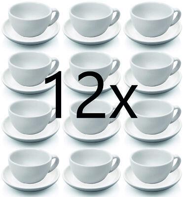 Tasse et soucoupe à cappuccino de 12 pièces, ensemble de tasses à cappuccino, porcelaine 0,20 L