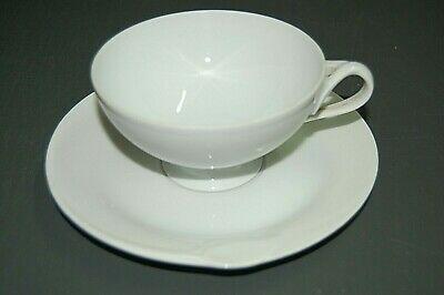 HUTSCHENREUTHER - Set 2 the c cups / soucoupe FLEURON Blanc - Porcelaine - Nouveau