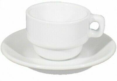 Tasse à café Tasse à café 8 cl avec plateau de table en porcelaine empilable