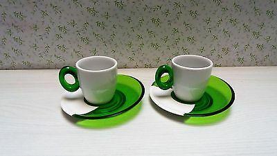 Omada Set 2 Tasses Acrylique Et Porcelaine Tache Verte M4220Vp 81412