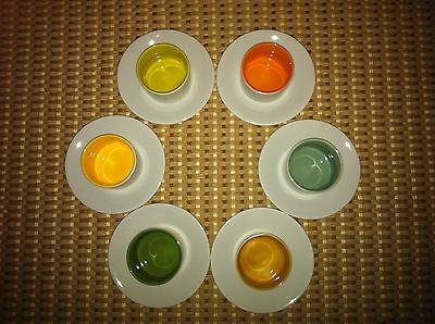 COVO set 6 tasses à café / 6 soucoupes en porcelaine