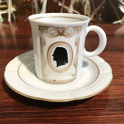 Weimarer Porzellan Weimar, Noble tasse avec soucoupe, forme pour Liszt
