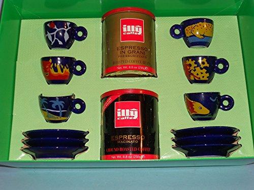 """6 coupes Illy Collection """"Trazzine"""" - auteur Luca Trazzi - année 1994 - série numérotée"""