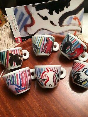 Collection Illy 1997 La danse du café par Sandro Chia 6 tasses à café