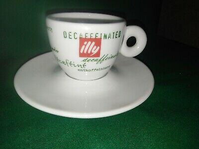 Tasse à café avec soucoupe Illy décaféiné