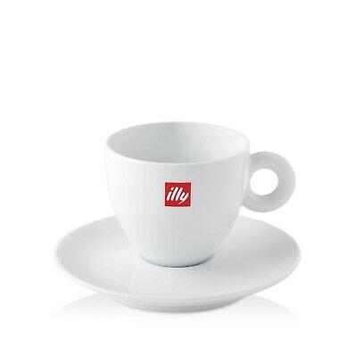 illy ensemble de douze tasses à café et douze soucoupes en porcelaine blanche