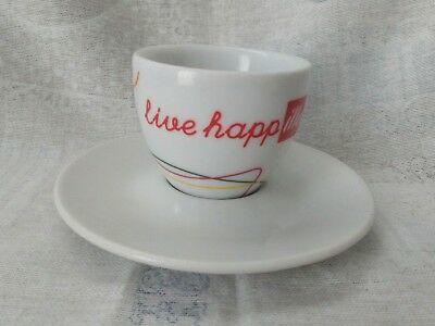 Illy espresso tasse et soucoupe en céramique de la collection LIVE HAPPY HAPPILLY