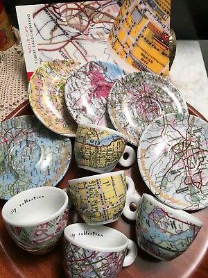 Illy collection 1998world cups de Robert Rauschenberg 5 tasses à café et soucoupes