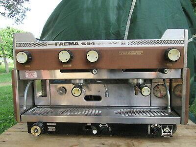 Machine à café d'époque Faema E 64 Bar diplomatique professionnel des années 70