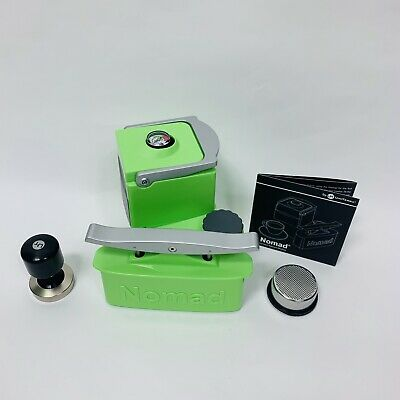 Nomad Espresso Porable Machine Luminescent Green Model 1.1 Nouveau