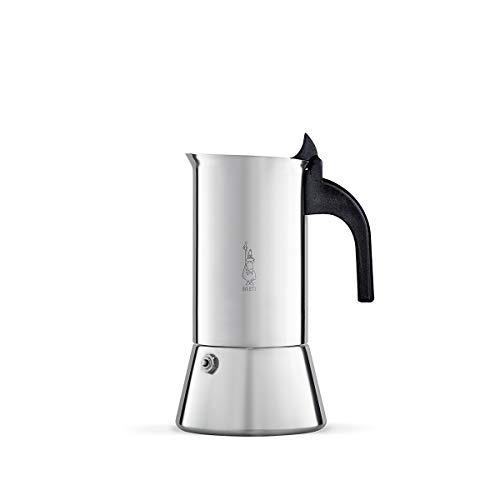 Cafetière en acier inoxydable Bialetti Venus, convient à l'induction, 6 tasses, métal, argent