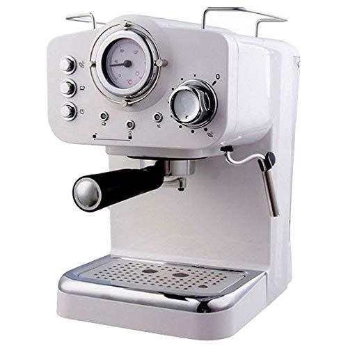 Café expresso ARIELLI KM-501W, moulé / dosettes, modèle 2019 2 filtres par 1/2 tasse Vaporisateur pour thé ou cappuccino Thermomètre pour système de sécurité 1100W 15bar 1,25 L (Blanc)
