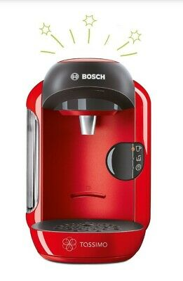 Bosch Tassimo TAS1253GB / TAS1403GB Machine à café pour boissons chaudes Vivy 2, 1300w, rouge