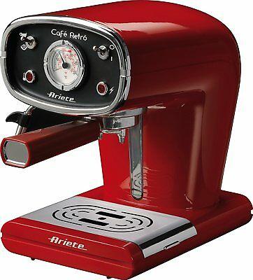 Cafetière à café expresso rouge Manuel Ariete 1388 Cafè Retro