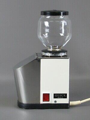 Moulin à café blanc Quick Mill Omre Vintage des années 70 avec flacon en verre