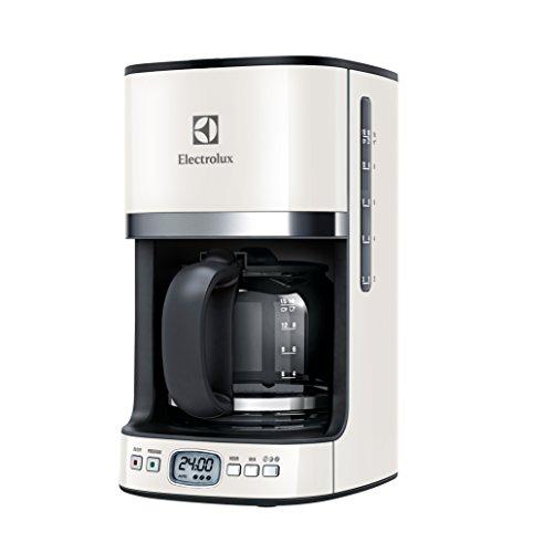 Machine à café américaine EKF7500W avec pichet gradué et système anti-goutte, 1080 W, plastique, crème