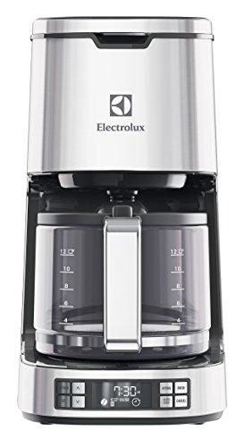Electrolux EKF7800 Cafetière américaine programmable, 1100 W, Acier inoxydable, Argenté
