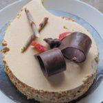 café semifreddo préparation de la recette de gâteau ingrédients