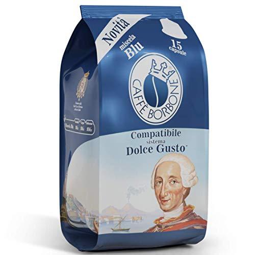 Café Borbone Compatible Nescafè® * Dolce Gusto® * Mélange Bleu - Paquet de 90 Capsules