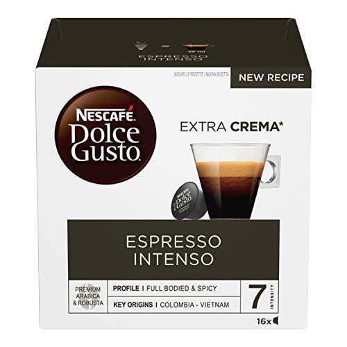 NESCAFÉ Espresso Intenso Sweet Gusto, Café Espresso, 6 unités de 16 gélules (96 gélules)