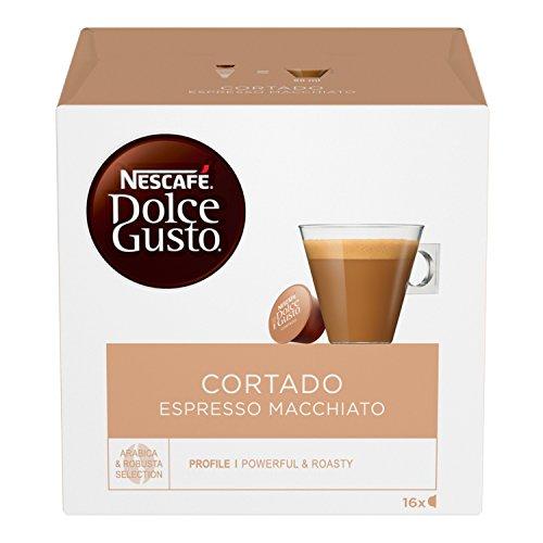 NESCAFÉ Espresso Macchiato Dolce Gusto Cortado, café Macchiato, 6 emballages de 16 capsules (96 capsules)