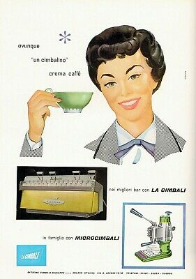 Publicité 1956 Cimbali Espresso Machine et Microcimbali Bar Cimbalino