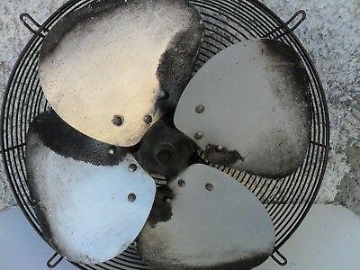 Ancien grand ventilateur à pales en aluminium - Années 60/70