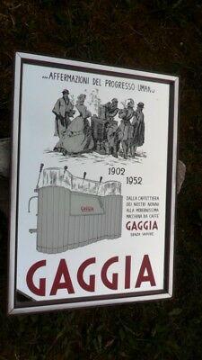 """Miroir illustrant la publicité """"Gaggia 1902-1952"""" Vintage Original des années 80"""