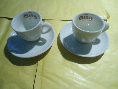 Caffe Illy Trieste - Lot 2 tasses à espresso publicitaire - Vecchio Logo