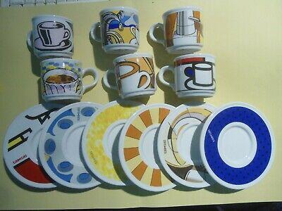 Caffe & # 39; Lavazza - Café & # 39; Des Arts - Service 6 Tasses Publicitaires