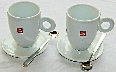 2 tasses + 2 cuillères à thé illy Thun 2 tasses + 2 cuiller à thé de café au lait cappuccino Latte