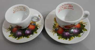 Tasses à café expresso Illy Collection Expo Milano 2015 Rare