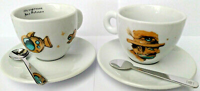 2 tasses de tasses à cappuccino tasses à café Illy Max Petrone café expresso 2019 café