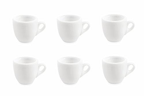 Galileo Casa 2411287 Service 6 Tasses, Porcelaine, Blanc, 6 unités